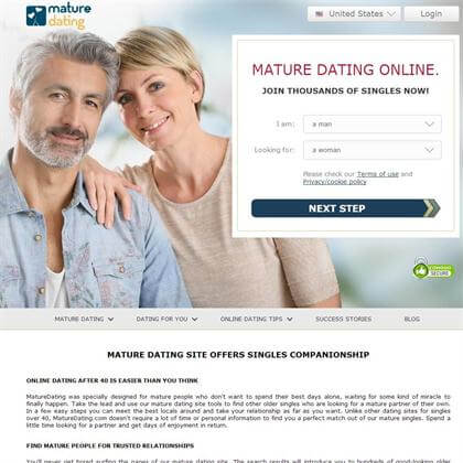 Free dating services for over 40